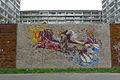 Sídliště Vlasta Praha 10 malba v ulici Magnitogorská.JPG
