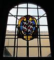 S. marco, cripta della cappella salviati, vetrata con stemma salviati 02.JPG