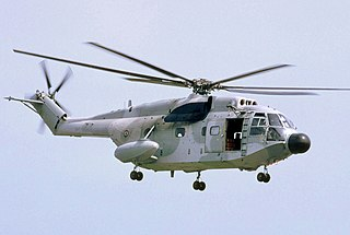 Aérospatiale SA 321 Super Frelon heavy transport and naval helicopter series by Sud Aviation, later Aerospatiale