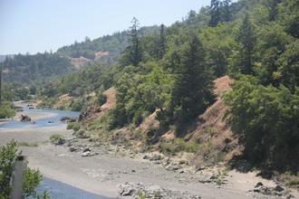 South Fork Eel River - Meander in the South Fork Eel River