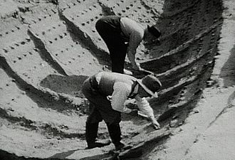 Sutton Hoo helmet - The ship impression during the 1939 excavation
