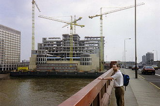 SIS Building - SIS Building under construction in 1991