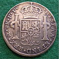 SPANISH PILLAR DOLLAR, PIECE OF EIGHT, CHARLES IV of SPAIN 1803 b - Flickr - woody1778a.jpg