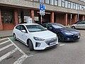 SPARK car and charging station in Vilnius.jpg