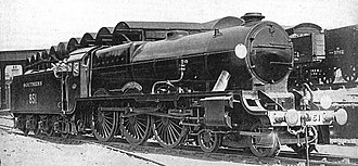 "Richard Maunsell - 851 ""Sir Francis Drake"", SR Lord Nelson class"
