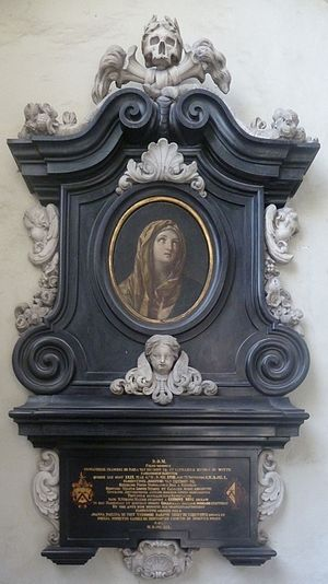 St. James' Church, Antwerp - Epitaph of Florentinus Josephus van Ertborn, painting by Guido Reni