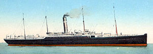 Postcard image of SS Merion in passenger service