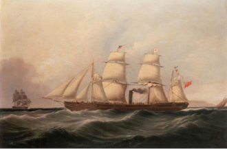 54th (West Norfolk) Regiment of Foot - SS Sarah Sands c.1850, by Joseph Heard