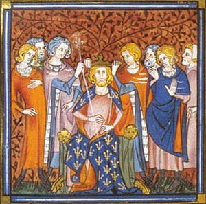 Louis V of France - Coronation of Louis V the 14th-century Grandes chroniques de France
