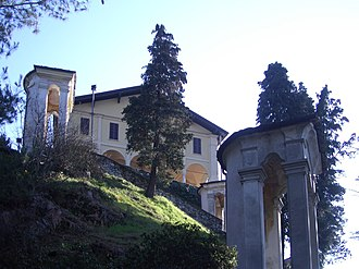 Borgosesia - Sacro Monte of Montrigone, with the Sanctuary of Sant'Anna.