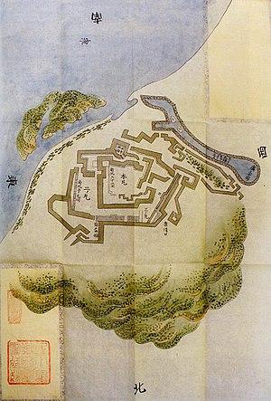 Nagoya Castle (Hizen Province) - Old map of Nagoya Castle in Hizen Province