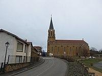 Saint-Germain-sur-l'Arbresle - RD 19 et église.jpg