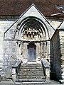 Saint-Vaast-lès-Mello (60), église Saint-Vaast, portail sud.jpg