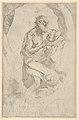 Saint Jerome kneeling on a rock facing right, after Reni MET DP837837.jpg