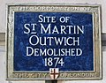 Saint Martin Outwich plaque London.jpg