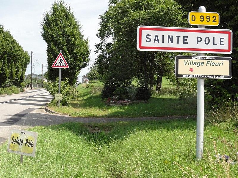 Sainte-Pôle (M-et-M) city limit sign