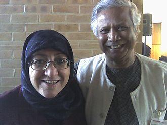 Sakena Yacoobi - Sakena Yacoobi with Nobel laureate Muhammad Yunus