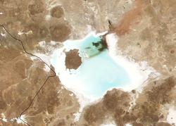 Vista satelital del salar
