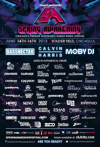 Spring Awakening (festival) - SAMF 2013 lineup