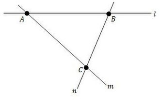 Incidence geometry - Simplest non-trivial linear space