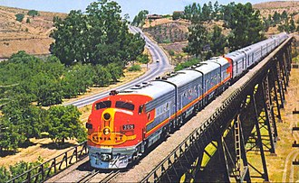 Atchison, Topeka and Santa Fe Railway - The San Francisco Chief in the 1950s