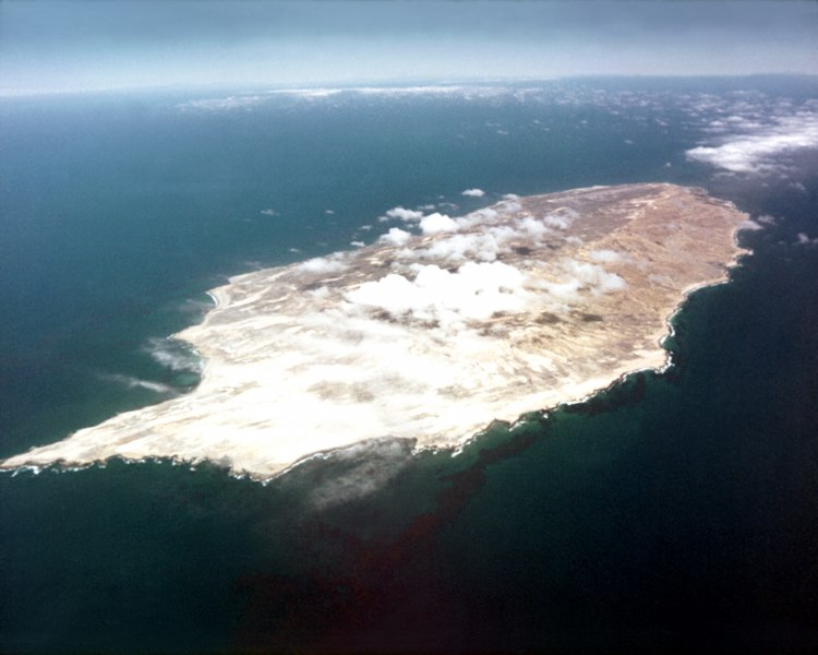 San Nicolas Island aerial view