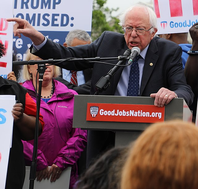 From commons.wikimedia.org: Sanders Introduces $15 Minimum Wage (cropped2) {MID-171203}