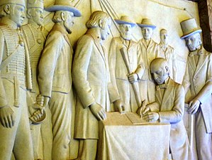 Sand River Convention - As depicted in the Voortrekker Monument