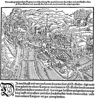 St. Gallen - St. Gallen in 1548