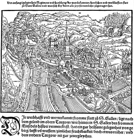St. Gallen in 1548 Sankt Gallen Stumpf 1548.jpg
