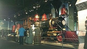Santa Cruz Railroad no. 3 - The Jupiter on display in the National Museum of American History.