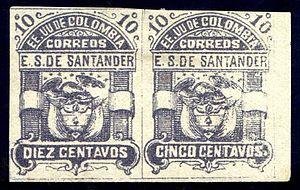 Errors, freaks, and oddities - Image: Santander 1886 Sc 6b error