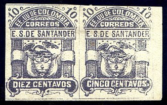 Errors, freaks, and oddities - Image: Santander 1886 Sc 6b error