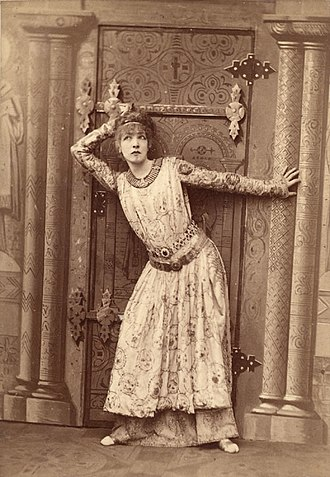 Victorien Sardou - Sarah Bernhardt in the title role of Sardou's Théodora in 1884
