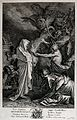 Saul consults Samuel after the witch of Endor has conjured h Wellcome V0025885.jpg