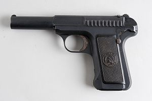 Sacco and Vanzetti - Savage Model 1907 automatic pistol