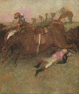 Scene from the Steeplechase The Fallen Jockey A20863