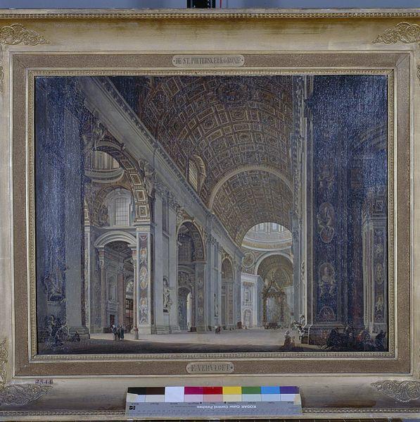 File schilderij interieur van de sint pieterskerk in rome for Interieur amsterdam