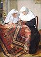 Schilderij met begijnen door de Vlaamse kunstschilder Louis Tytgadt.jpg