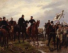 Nach der Schlacht bei Königgrätz, Gemälde von Emil Hünten, 1886 (Quelle: Wikimedia)