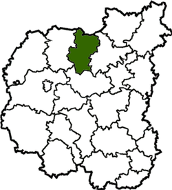 Location of Snovskas rajons