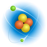 Chemistry - the study of atoms, made of nuclei (conglomeration of center particles) and electrons (outer particles), and the structures they form.