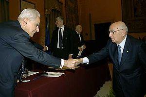 Pietro Scoppola - Pietro Scoppola with Giorgio Napolitano