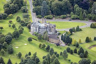 Airthrey Castle - Image: Scotland 2016 Aerial Stirling Airthrey Castle