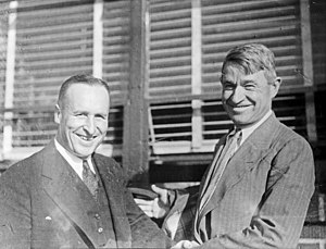 Charles L. Smith (Seattle mayor) - Seattle Mayor Charles L. Smith (left) with Will Rogers, circa 1935.