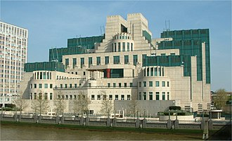 SIS Building - Image: Secret Intelligence Service building Vauxhall Cross Vauxhall London 24042004