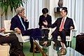 Secretary Kerry Listens to Chinese Vice Premier Zhang During a Bilateral Meeting Before He Addressed Delegates and Signed the COP21 Climate Change Agreement on Earth Day in New York (26307375800).jpg