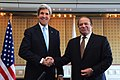 Secretary Kerry Shakes Hands With Pakistani Prime Minister Sharif in The Hague (13382248423).jpg