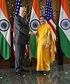 Secretary Mattis with Indian Minister of External Affairs Swaraj at the U.S.-India 2+2 Dialogue (43598827085).jpg