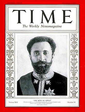 Haile Selassie - Cover of Time magazine, 3 November 1930